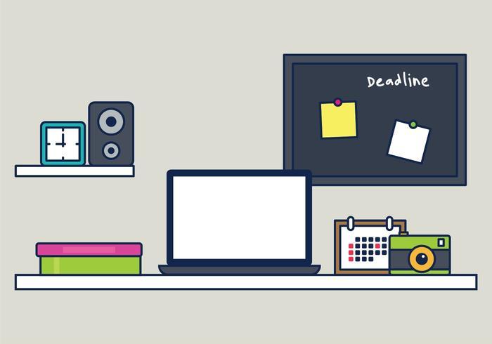 Workspace Illustration vector