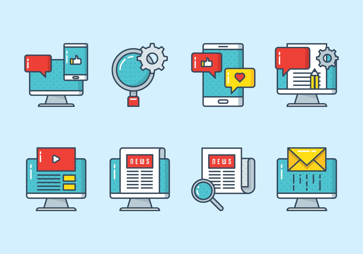 Digital Marketing Icon - Download Free Vectors, Clipart ...
