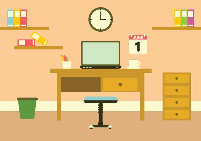 Vector Workspace Illustration