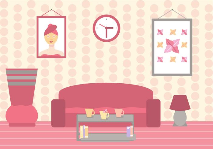 Beauty Clinic Waiting Room Vector
