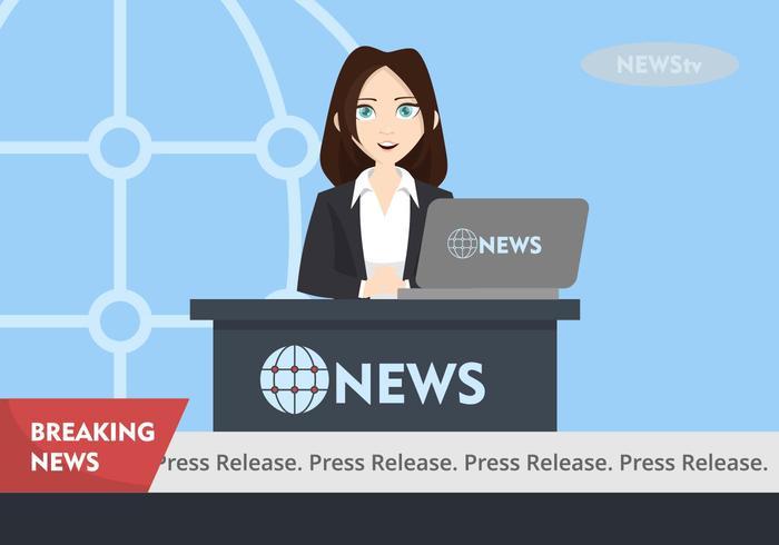 Press Release Illustration vector
