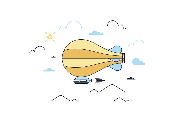 Freier Luftschiff-Vektor