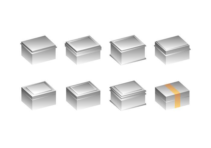 Silver Tin Box Free Vector
