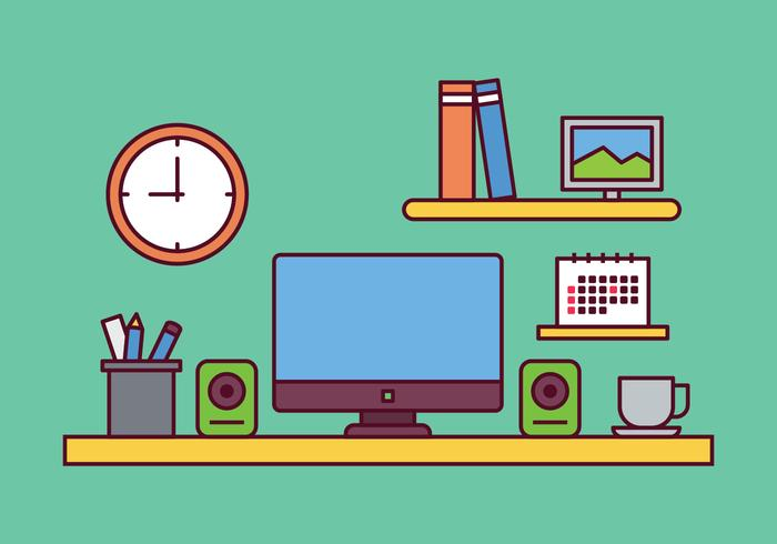 Workspace Illustration Vector