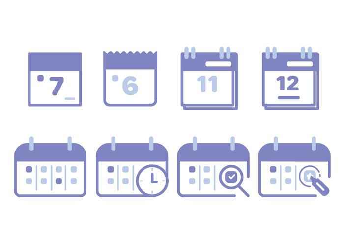 Calendar Icon Set Download Free Vector Art Stock