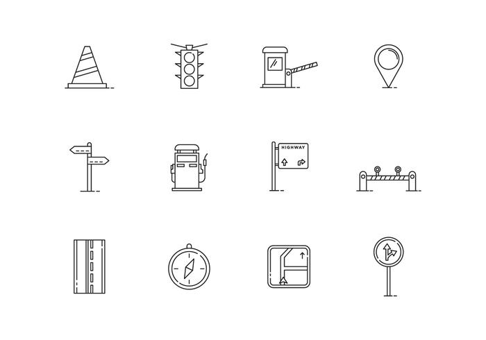 Outline Traffic Icons