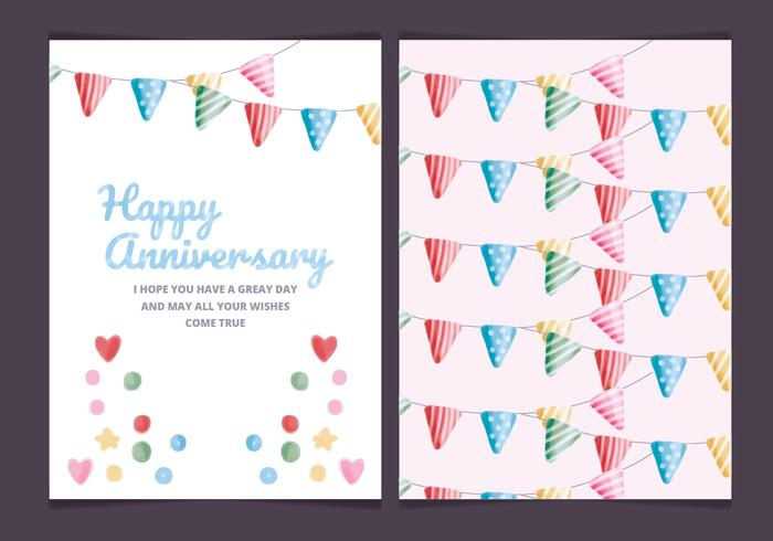 Vector Colourful Anniversary Card
