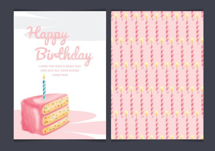 Vector Birthday Cake Card