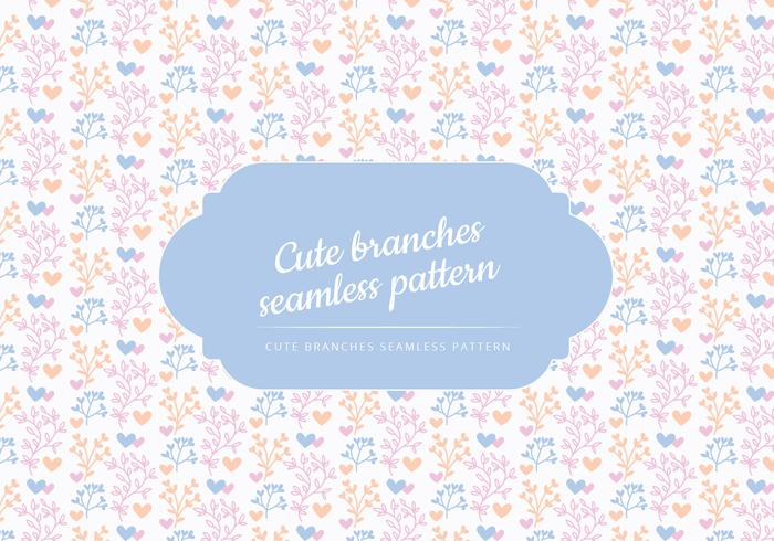Vector Cute Branches Background