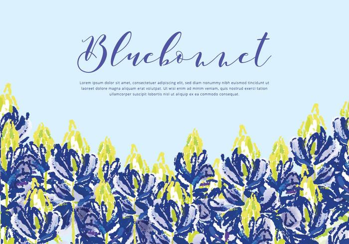 Bluebonnet Vector Background
