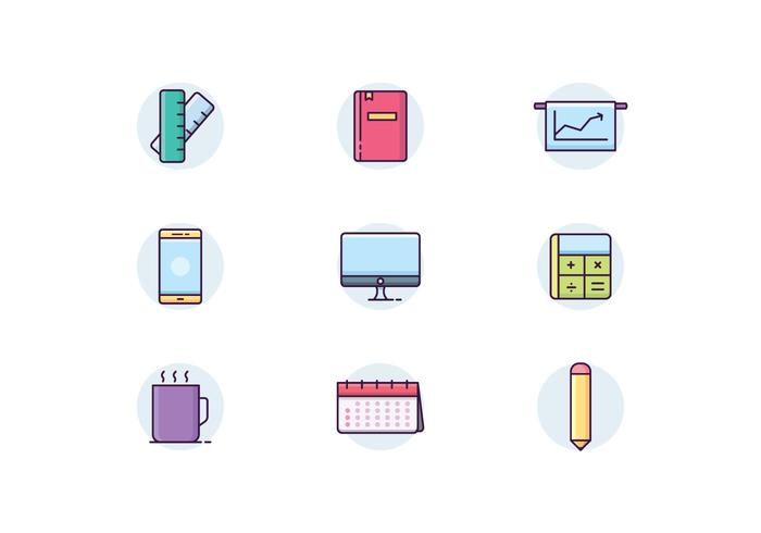 Icon pack of Office Items