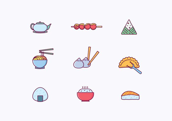 Asian Dishes Icons