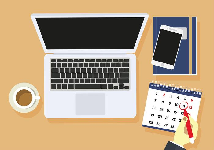 Desktop Kalender Free Vector