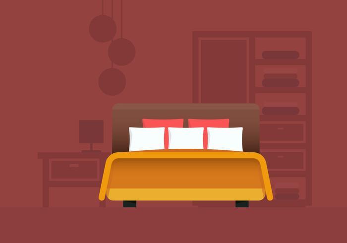 Dormitorio y muebles de la cabecera vector