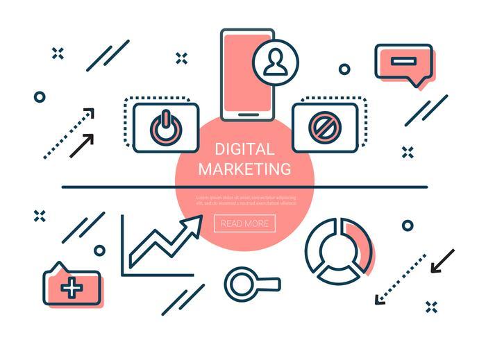 Éléments de marketing numérique linéaire gratuit
