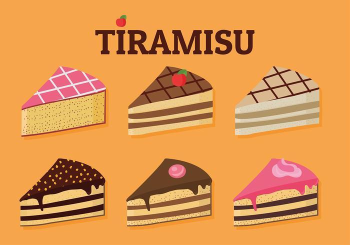 Tiramisu Set Freier Vektor