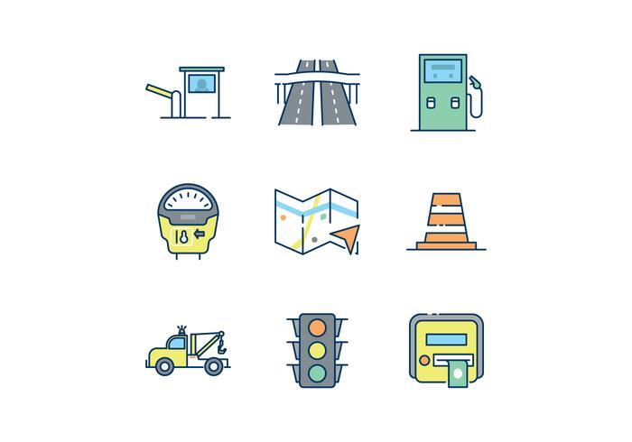Ícones gratuitos do tráfego rodoviário