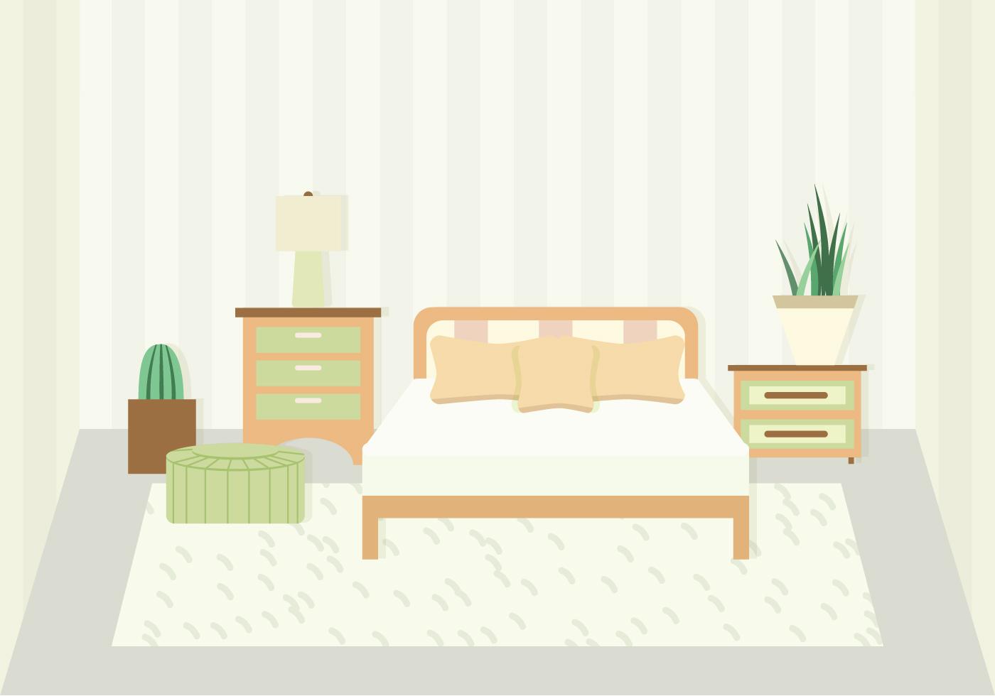 bedroom vector illustration 150736 vector art at vecteezy