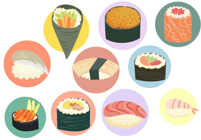 Gratis Sushi vektorer