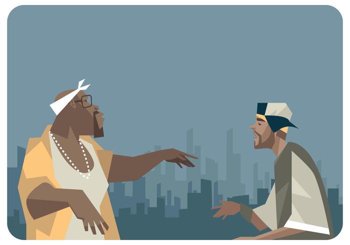 vettore di duetto rapper