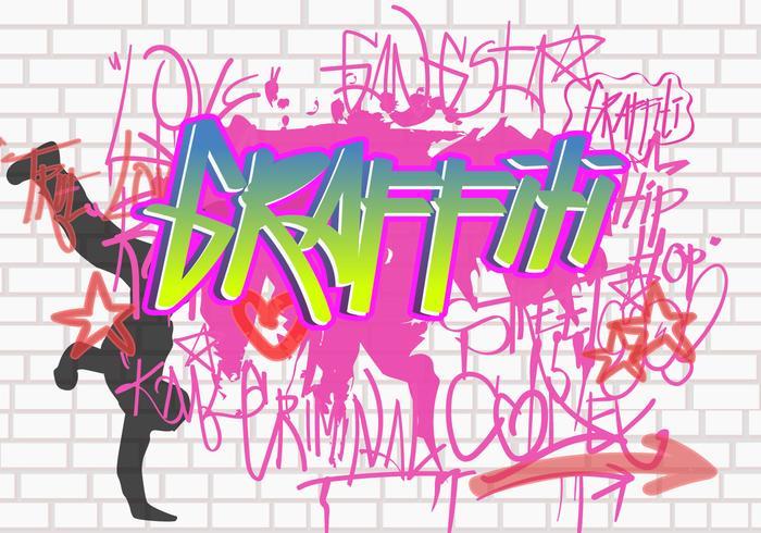 Wall Graffiti Vector