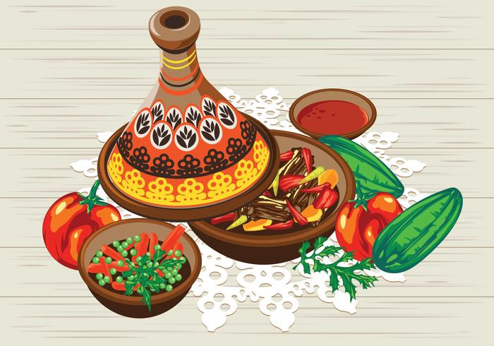 Vegetable Tajine with Chicken and Tomato Sauce