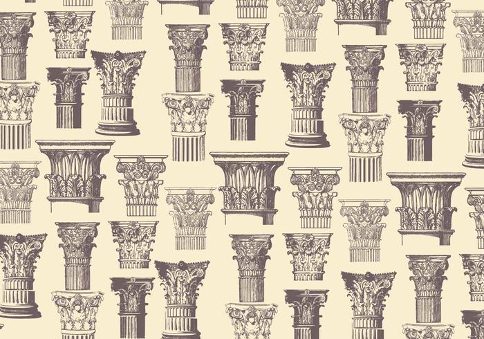Corinthian Pattern Classic Vector