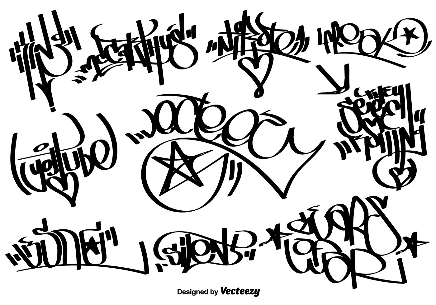 Vector graffiti tags download free vector art stock graphics images