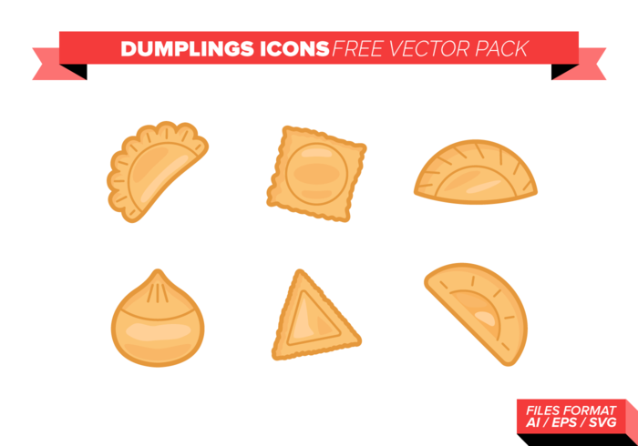 Dumplings Icons Free Vector Pack
