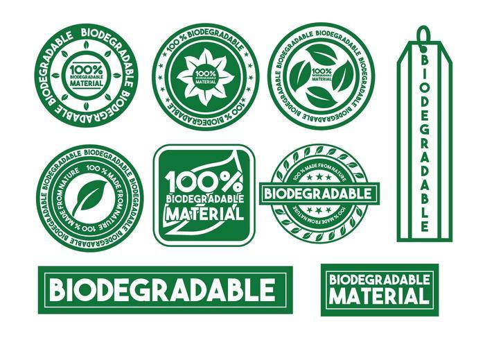 Conjunto de selo vetorial biodegradável