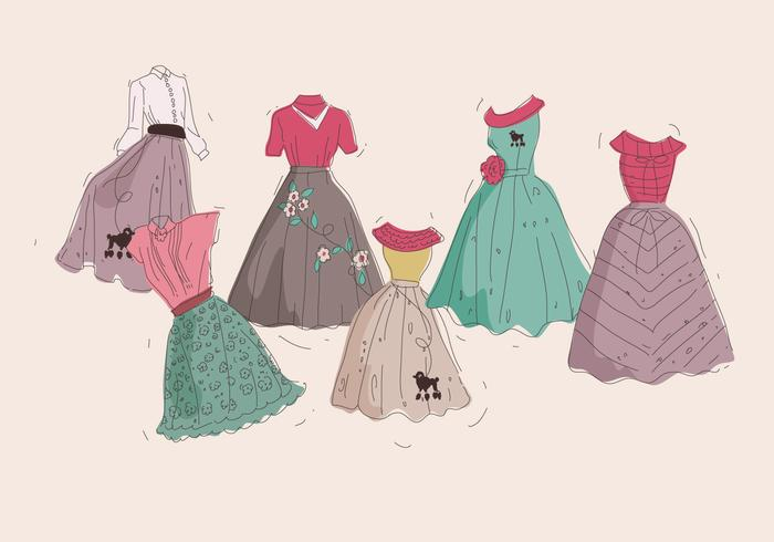 Poodle Skirt Classic Vector