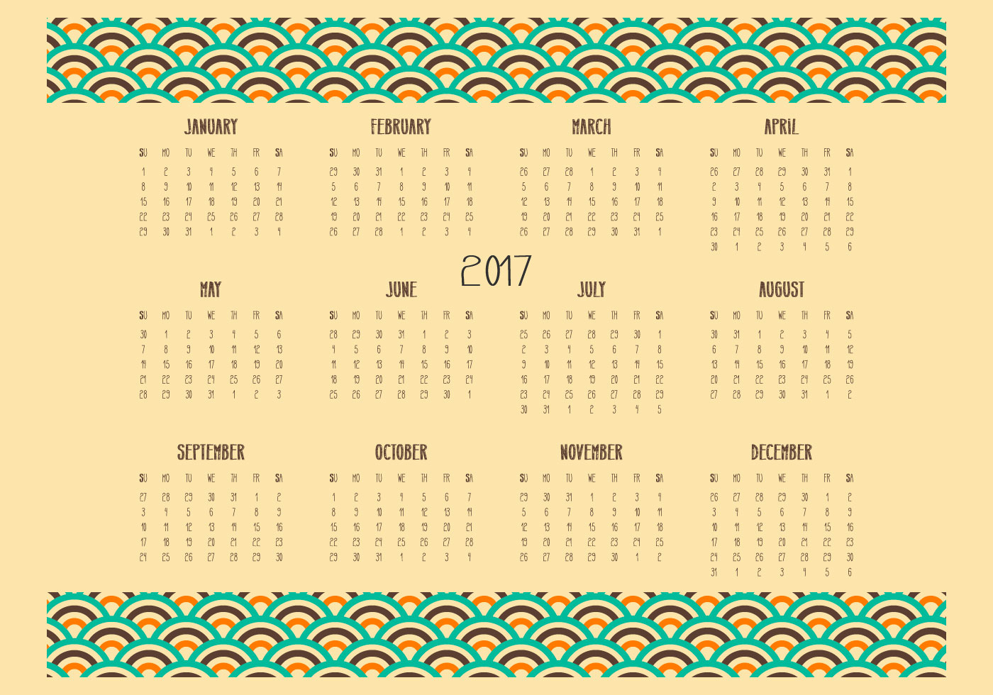 Calendar Illustration Questions : Retro desktop kalender illustration kostenlose