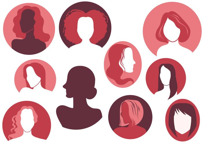 Free Woman Silhouette Vectors