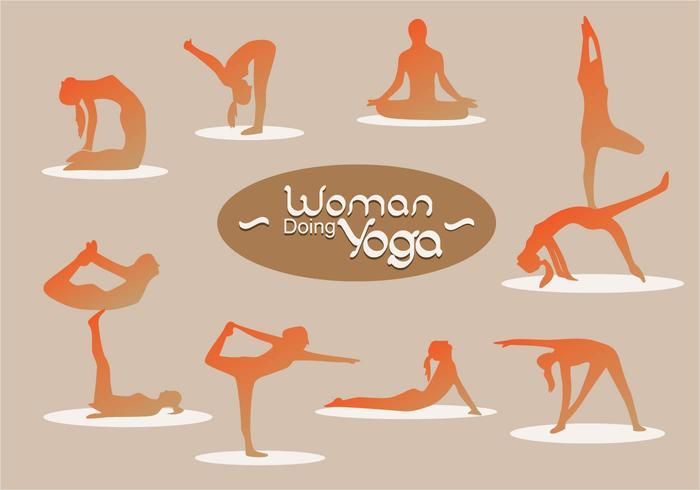 Woman Silhouette Doing Yoga