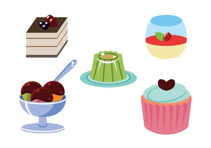 Dessert Flat Vector