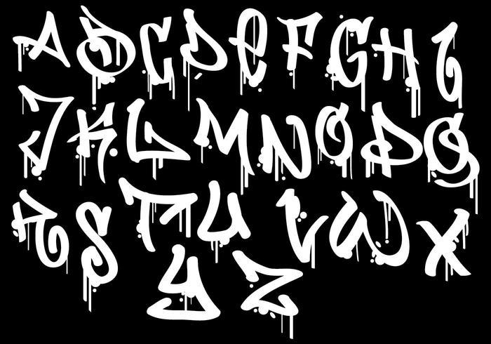 Extremamente Alfabeto de Graffiti - Descargue Gráficos y Vectores Gratis GF94