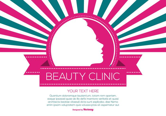 Retro Style Beauty Clinic Illustratie