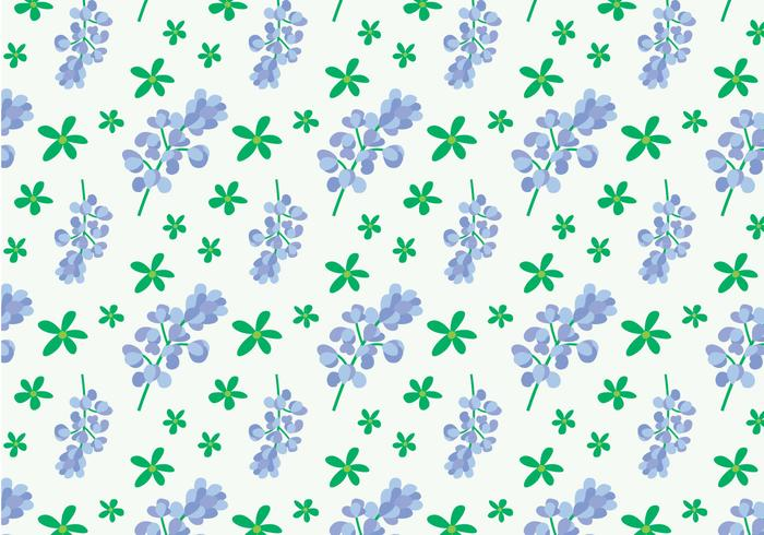Bluebonnet Flower Pattern