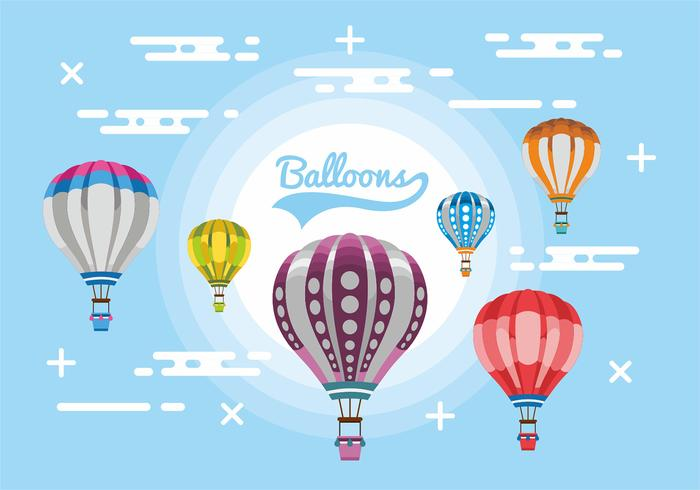 Hot Air Balloons Vector Design