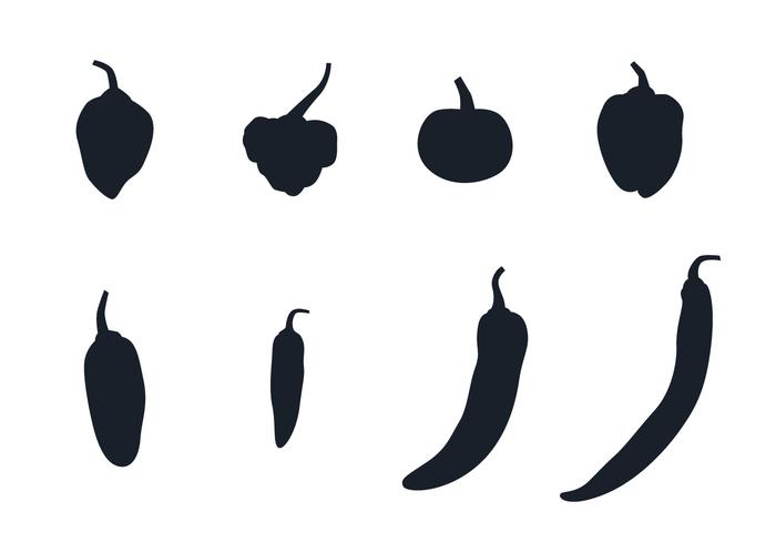 Chilies Silhouette vector
