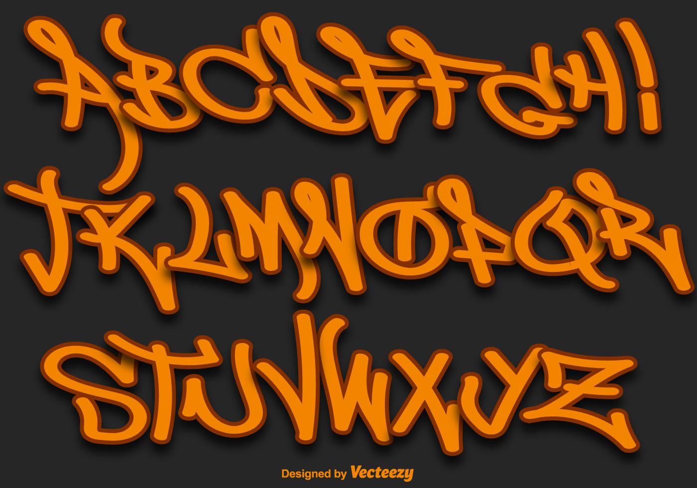 Graffiti Font Free Vector Art 2003 Free Downloads