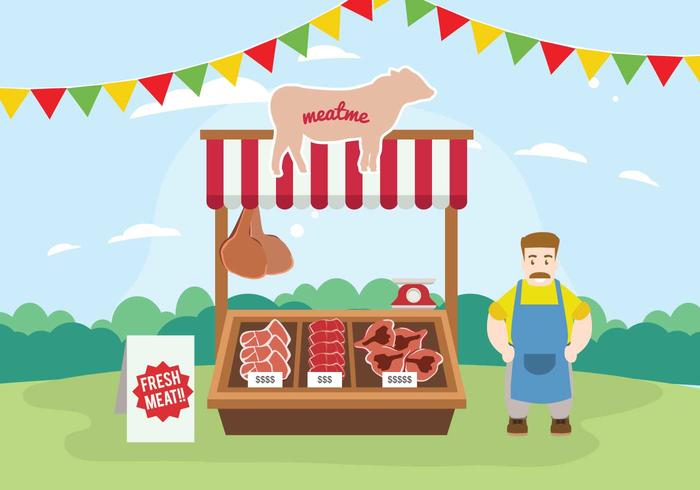 Free Charcuterie Stand Illustration