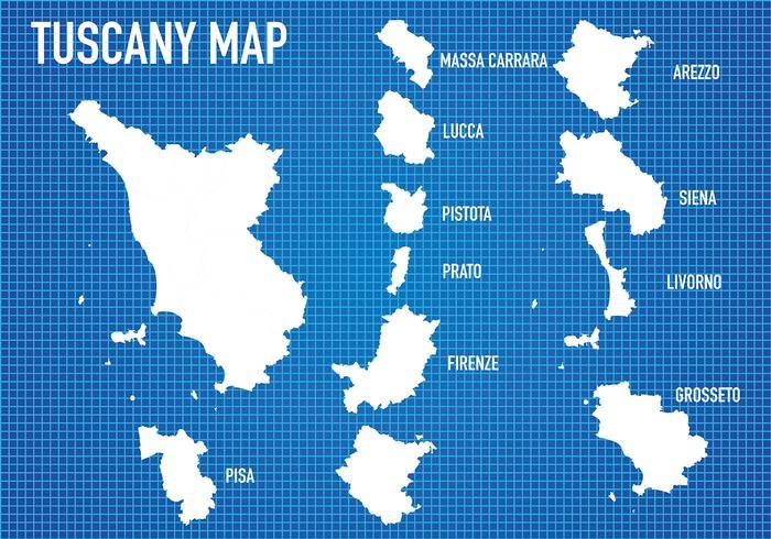 Vector do mapa da Toscânia