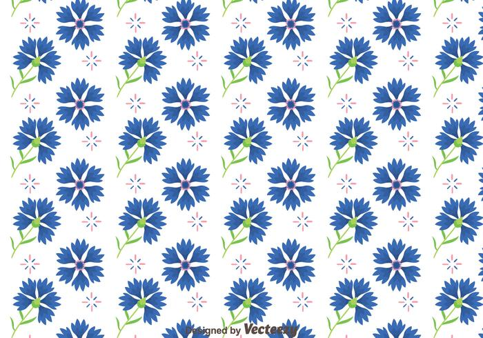 Bluebonnet flores vector patrón