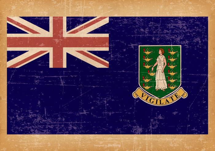 Old Grunge Flag of UK Virgin Islands