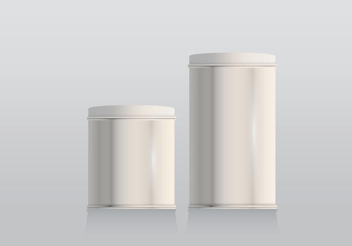 Tin Box Templates Realistic Illustration