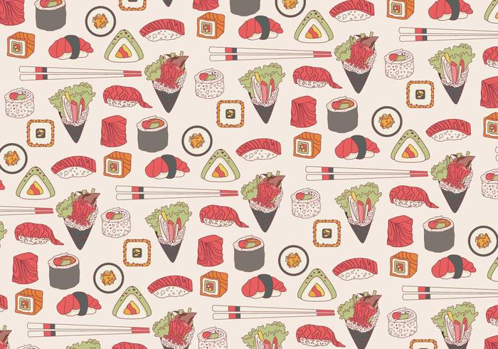 Temaki Pattern Vector