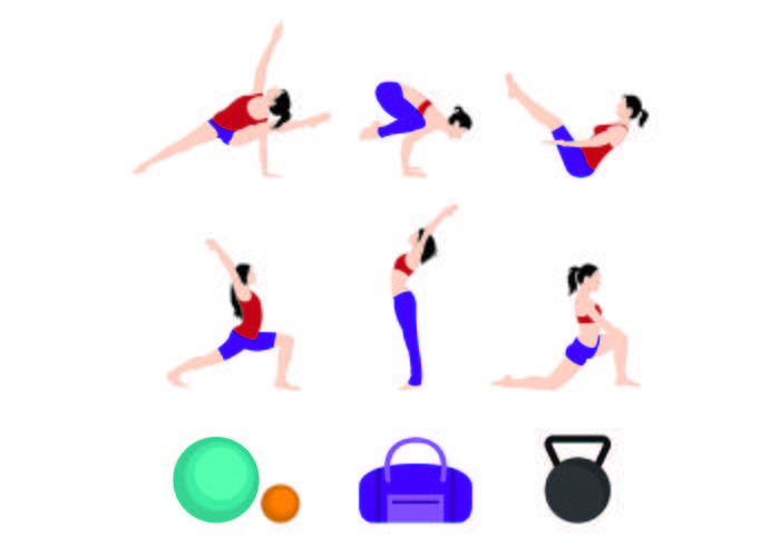 Set Of Woman Sport Icons