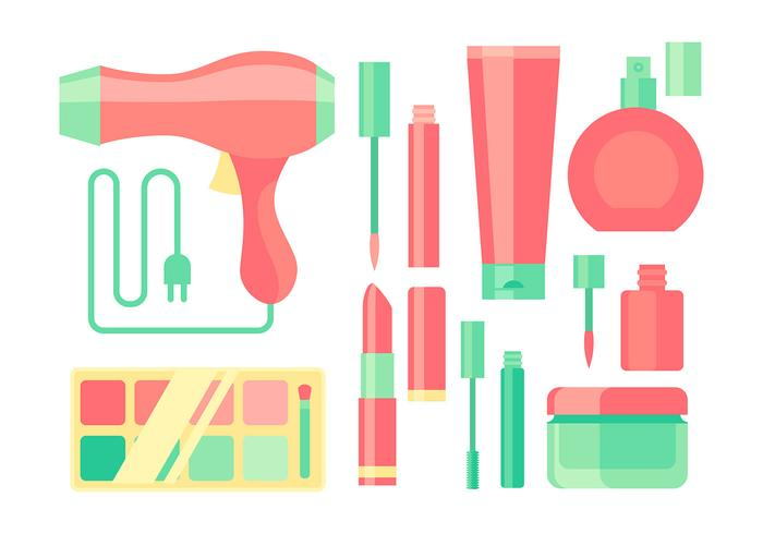 Make Up Equipment Free Vector
