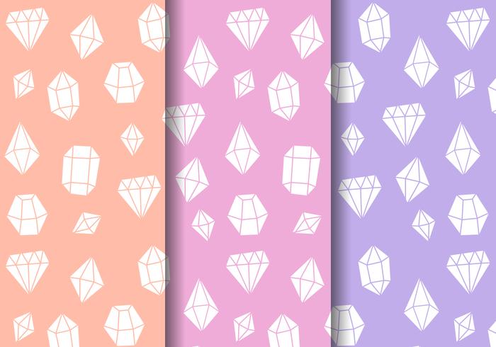 Patrón de gemas brillantes gratis
